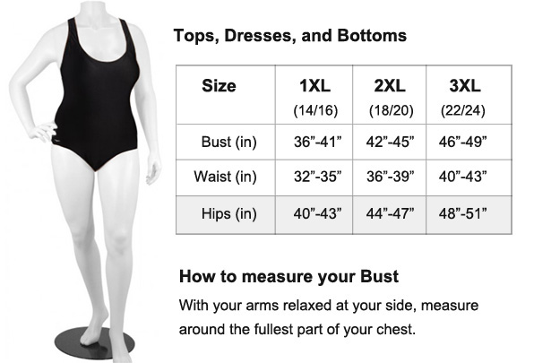 Utilize our simple plus size fit guide & sizing chart to ensure you are choosing the best style & using the right measurements for the perfect fit here. JavaScript seems to be disabled in your browser.