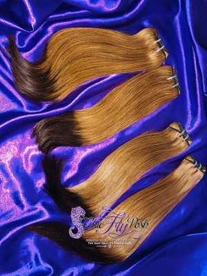 15A Double Drawn Colored Straight Hair