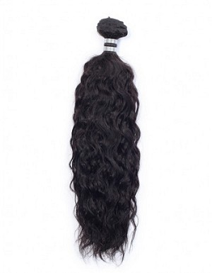 Jet Black Indian Natural Wavy